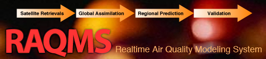 RAQMS - Regional Air Quality Modeling System